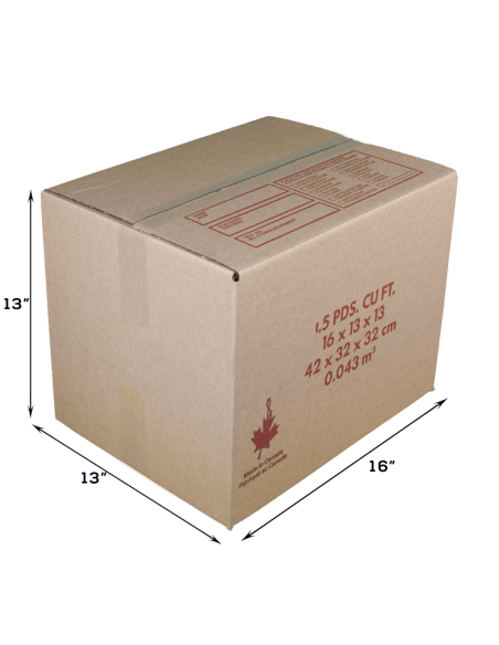 1.5 Cubic Feet - Closed Small Box For Moving. Moving Boxes Online