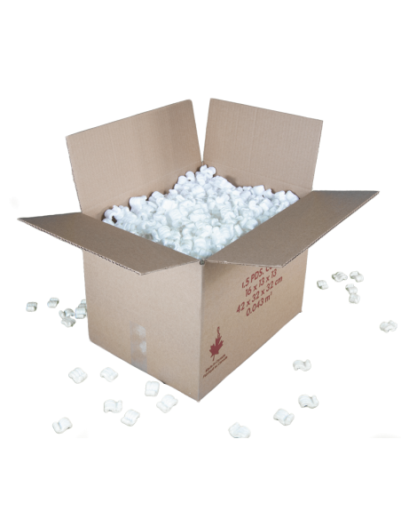 1.5 Cubic Feet - Moving Box with packing penauts. Moving Boxes Online