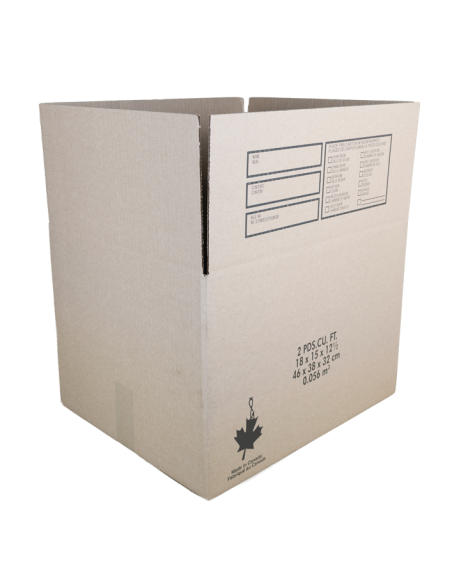 2 Cubic Feet - Open Small Moving Box