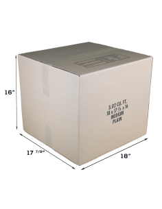 3 Cubic Feet - Closed Medium Moving Box