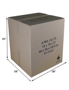 4 Cubic Feet - Closed Medium Moving Box
