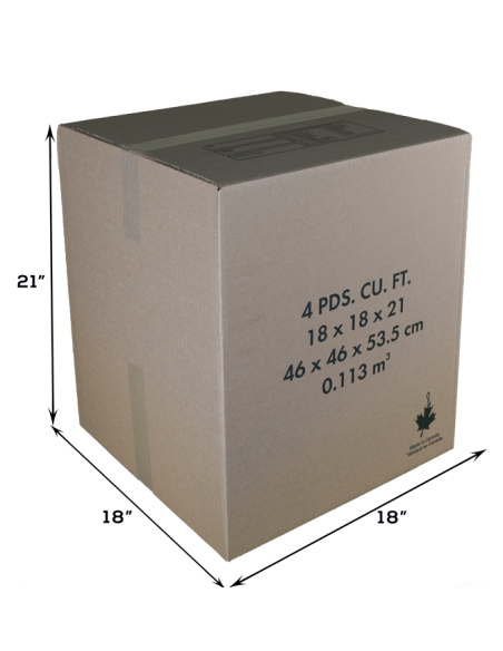 4 Cubic Feet - Closed Medium Moving Box