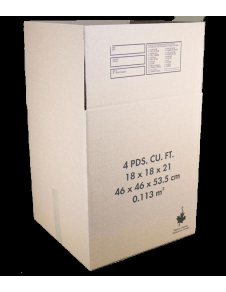 4 Cubic Feet - Open Medium Moving Box