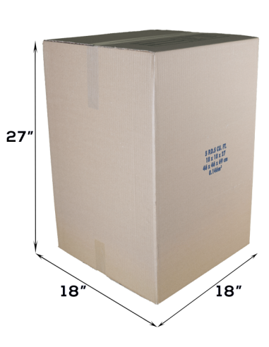5 Cubic Feet - Closed Large Moving Box