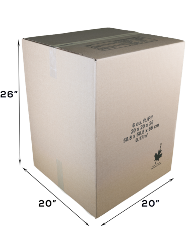 6 Cubic Feet - Closed Large Moving Box