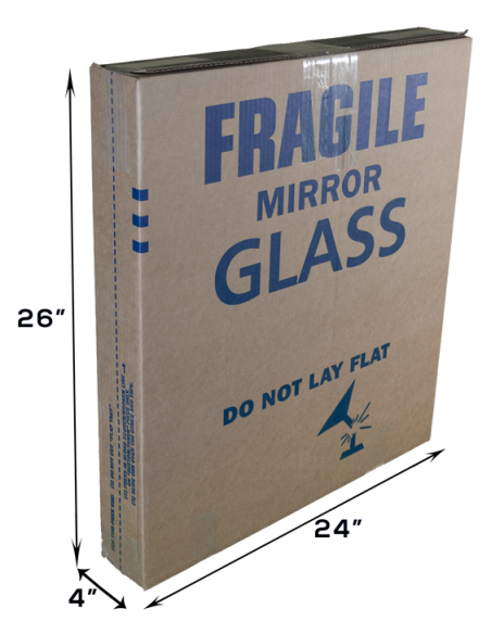 Telescopic Moving Box For Fragile Items, Mirrors and Glass.