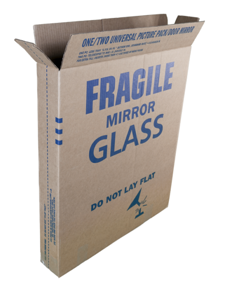 Open Telescopic Moving Box For Fragile Items, Mirrors and Glass.