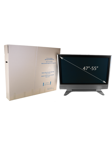 """Assembled Large Flat Panel TV Box With a 47"""" to 55"""" TV"""