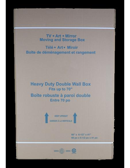 Disassembled Extra Large Flat Panel TV Box Front