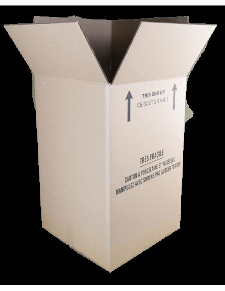 Assembled and Open Dish Barrel Box