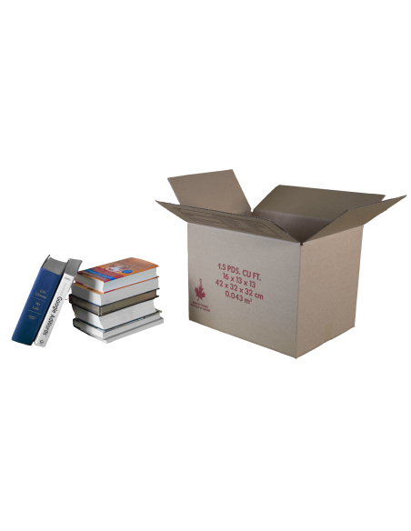1.5 Cubic Feet - Open Small Box For Moving and Books. Moving Boxes Online