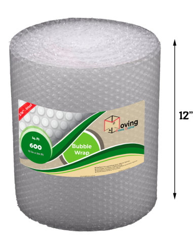 """3/16"""" Small Bubble Wrap 12"""" x 50 ft (Front)"""