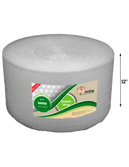 """3/16"""" Small Bubble Wrap 12"""" x 250 ft (Front)"""