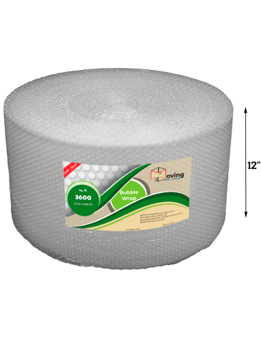 """3/16"""" Small Bubble Wrap 12"""" x 300 ft (Front)"""