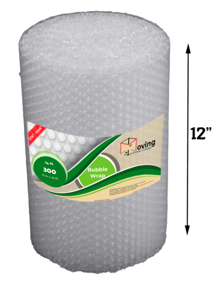 """3/16"""" Small Bubble Wrap 12"""" x 25 ft (Front)"""