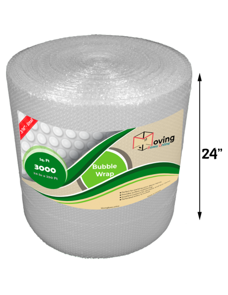 """3/16"""" Small Bubble Wrap 24"""" x 250 ft (Front)"""
