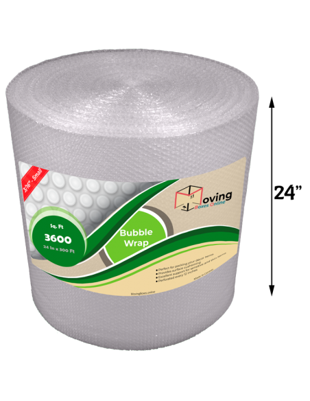 """3/16"""" Small Bubble Wrap 24"""" x 300 ft (Front)"""