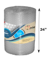 "5/16"" Medium Bubble Wrap 24"" x 75 ft (Front With Measurements)"