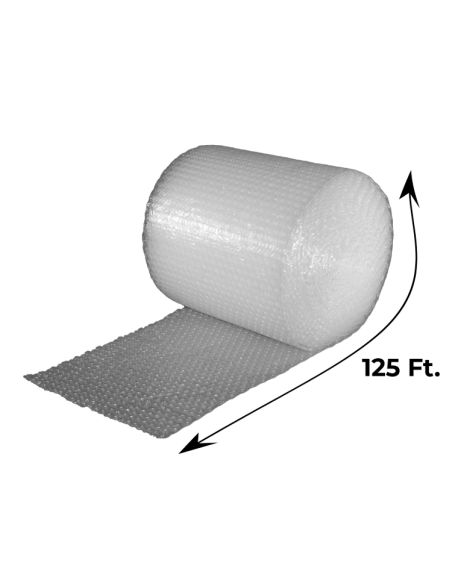 """5/16"""" Medium Bubble Wrap 24"""" x 125 ft (Unrolled Side With Measurements)"""
