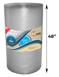 """5/16"""" Medium Bubble Wrap 48"""" x 188 ft (Front With Measurements)"""