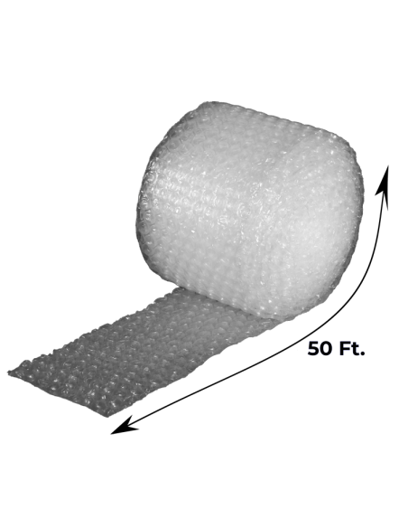 """1/2"""" Large Bubble Wrap 12"""" x 50 ft (Unrolled Side With Measurements)"""