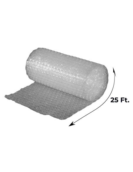 """1/2"""" Large Bubble Wrap 24"""" x 25 ft (Unrolled Side With Measurements)"""