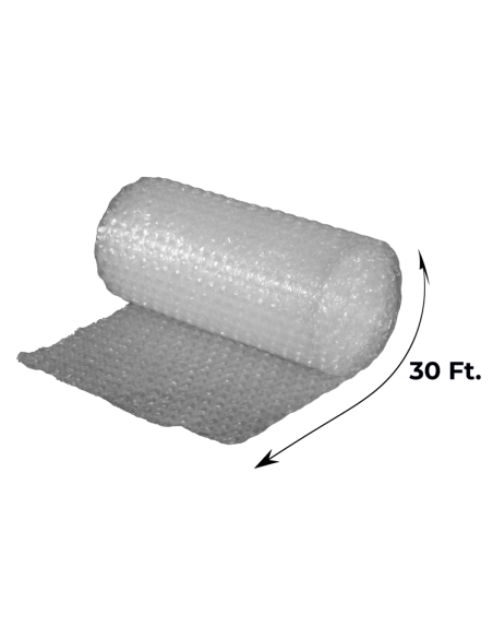 "1/2"" Large Bubble Wrap 24"" x 30 ft (Unrolled Side With Measurements)"