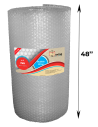 "1/2"" Large Bubble Wrap 48 inch height x 250 ft length (Front with Label)"