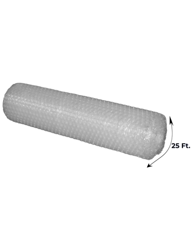 """1/2"""" Large Bubble Wrap 48 Inch Height x 25 feet Length (Side with Measurements)"""