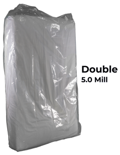 Full / Double Heavy Duty Mattress Bag 5.0 mil poly