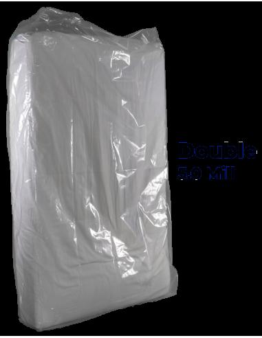 Full / Double Heavy Duty Mattress Bag 5.0 mil poly